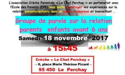 Groupe de parole – Le Chat Perchay – 95450 Le Perchay