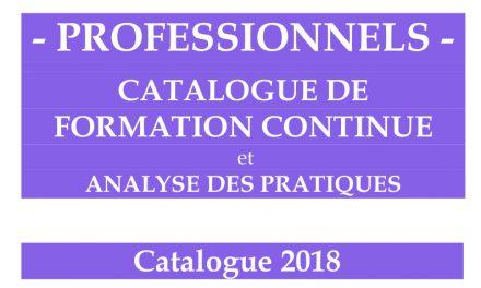 Catalogue de formation 2018 – consultez-le en ligne !