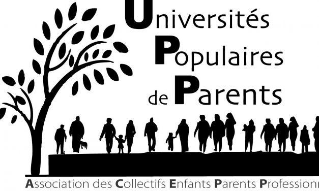 Présentation et échanges autour des Universités Populaires de Parents