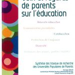 "photo de la couverture de l'ouvrage ""voix et regards de parents sur l'éducation"""