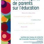 """photo de la couverture de l'ouvrage """"voix et regards de parents sur l'éducation"""""""
