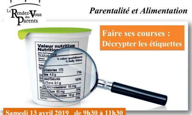 Atelier parents : parentalité et alimentation – 13 avril 2019