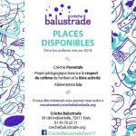 Places disponibles : Balustrade – 75011 Paris