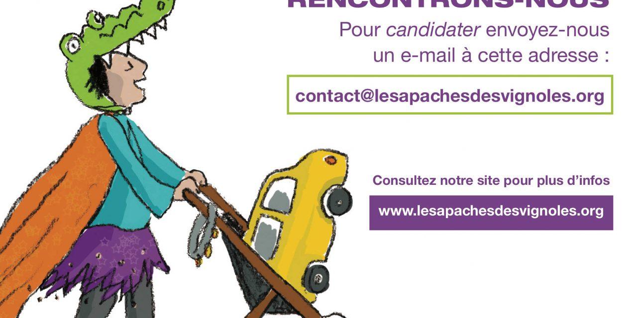 Place disponible : Les Apaches des Vignoles – 75020 Paris
