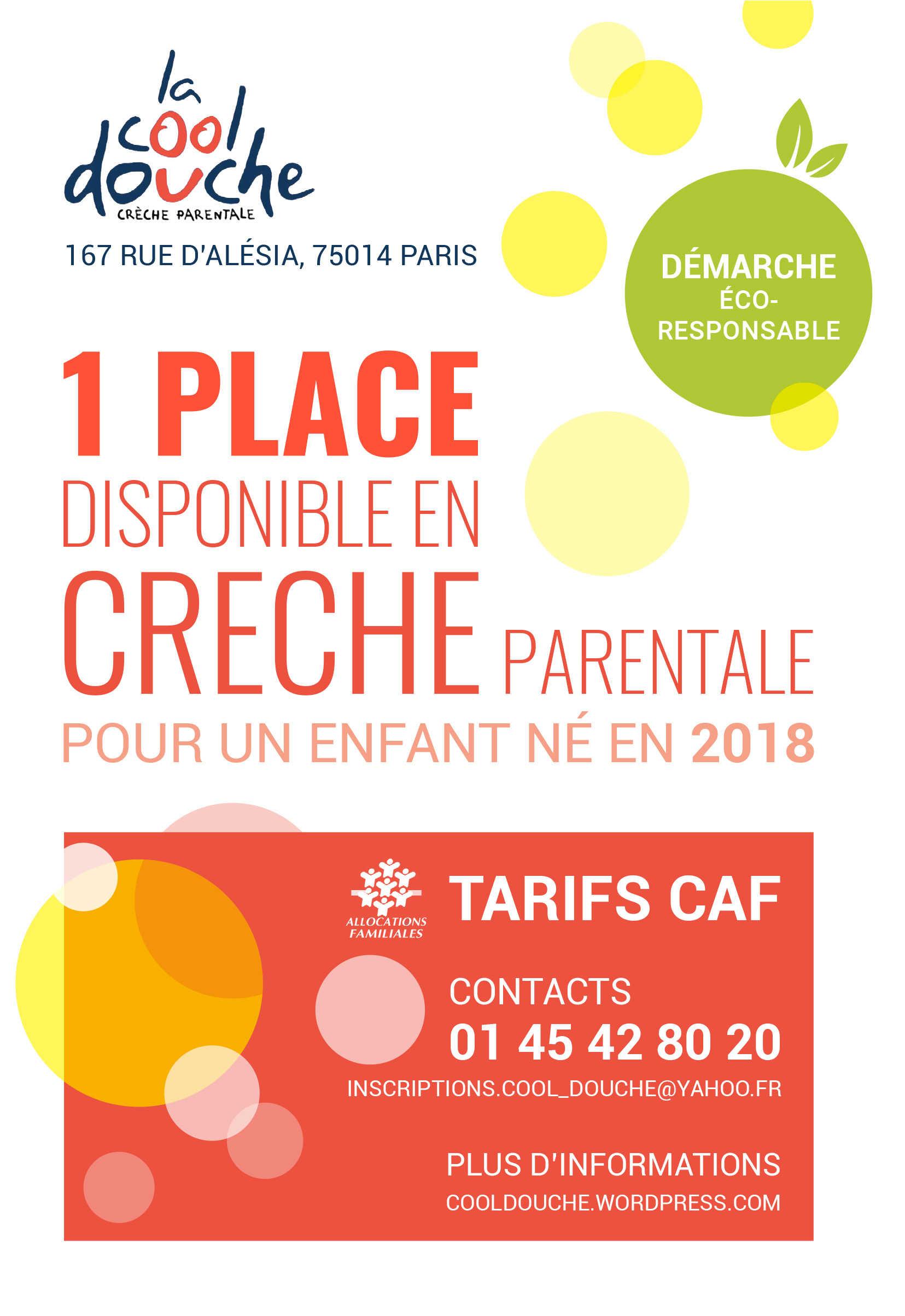 Place libre crèche La Cool Douche