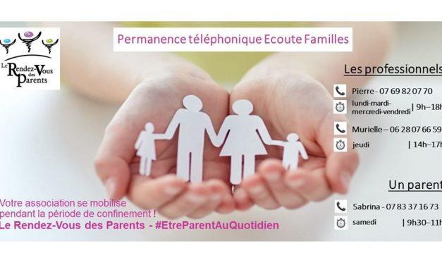 Permanence téléphonique écoute familles