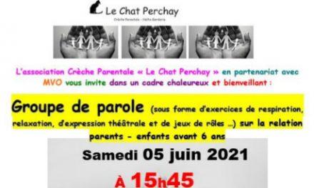 Groupe de parole – Samedi 05 juin 2021 – 95450 Le Perchay