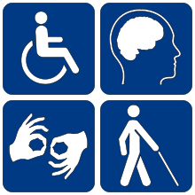 Logo représentant les différents handicaps
