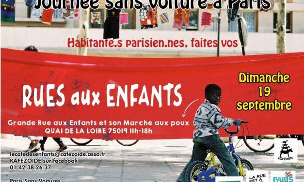 Dimanche 19 Septembre : Rue aux Enfants à Paris 19ème